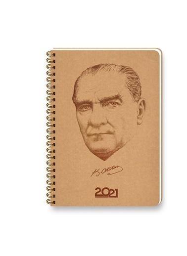 Keskin Color  2021 14x20 Atatürk Günlük Spiralli Kraf Renkli